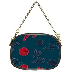Zodiac Signs Planets Blue Red Space Chain Purses (two Sides)  by Mariart