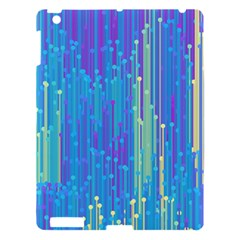 Vertical Behance Line Polka Dot Blue Green Purple Apple iPad 3/4 Hardshell Case by Mariart