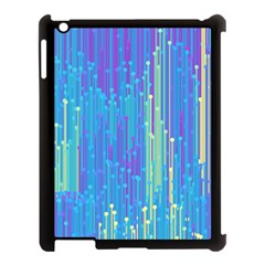 Vertical Behance Line Polka Dot Blue Green Purple Apple Ipad 3/4 Case (black) by Mariart