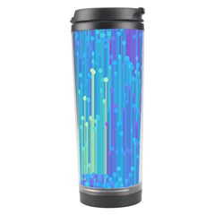 Vertical Behance Line Polka Dot Blue Green Purple Travel Tumbler by Mariart