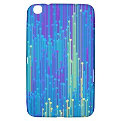 Vertical Behance Line Polka Dot Blue Green Purple Samsung Galaxy Tab 3 (8 ) T3100 Hardshell Case  by Mariart