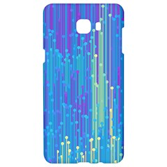 Vertical Behance Line Polka Dot Blue Green Purple Samsung C9 Pro Hardshell Case  by Mariart