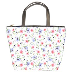 Floral Pattern Bucket Bags by ValentinaDesign