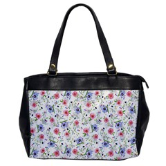 Floral Pattern Office Handbags by ValentinaDesign