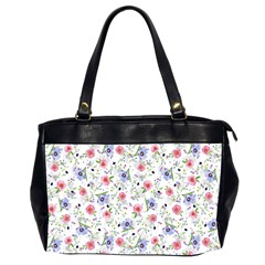 Floral Pattern Office Handbags (2 Sides)  by ValentinaDesign