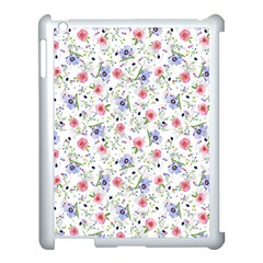 Floral Pattern Apple Ipad 3/4 Case (white) by ValentinaDesign
