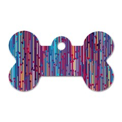Vertical Behance Line Polka Dot Blue Green Purple Red Blue Black Dog Tag Bone (one Side) by Mariart