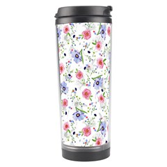 Floral Pattern Travel Tumbler by ValentinaDesign