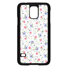 Floral Pattern Samsung Galaxy S5 Case (black) by ValentinaDesign