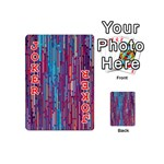 Vertical Behance Line Polka Dot Blue Green Purple Red Blue Black Playing Cards 54 (Mini)  Front - Joker2