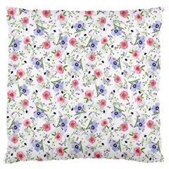 Floral Pattern Large Flano Cushion Case (two Sides) by ValentinaDesign