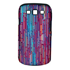 Vertical Behance Line Polka Dot Blue Green Purple Red Blue Black Samsung Galaxy S Iii Classic Hardshell Case (pc+silicone) by Mariart