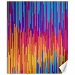 Vertical Behance Line Polka Dot Blue Red Orange Canvas 8  X 10  by Mariart