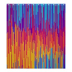 Vertical Behance Line Polka Dot Blue Red Orange Shower Curtain 66  X 72  (large)  by Mariart