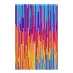 Vertical Behance Line Polka Dot Blue Red Orange Shower Curtain 48  X 72  (small)  by Mariart