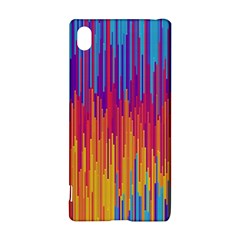 Vertical Behance Line Polka Dot Blue Red Orange Sony Xperia Z3+ by Mariart