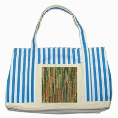 Vertical Behance Line Polka Dot Grey Blue Brown Striped Blue Tote Bag by Mariart