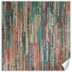 Vertical Behance Line Polka Dot Grey Blue Brown Canvas 12  X 12   by Mariart