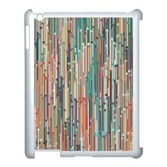 Vertical Behance Line Polka Dot Grey Blue Brown Apple Ipad 3/4 Case (white) by Mariart
