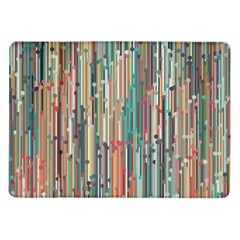Vertical Behance Line Polka Dot Grey Blue Brown Samsung Galaxy Tab 10 1  P7500 Flip Case by Mariart