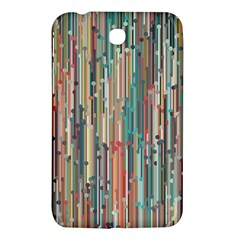 Vertical Behance Line Polka Dot Grey Blue Brown Samsung Galaxy Tab 3 (7 ) P3200 Hardshell Case  by Mariart