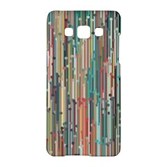 Vertical Behance Line Polka Dot Grey Blue Brown Samsung Galaxy A5 Hardshell Case  by Mariart
