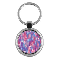 Vertical Behance Line Polka Dot Blue Green Purple Red Blue Small Key Chains (round)  by Mariart