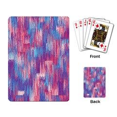 Vertical Behance Line Polka Dot Blue Green Purple Red Blue Small Playing Card by Mariart