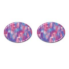 Vertical Behance Line Polka Dot Blue Green Purple Red Blue Small Cufflinks (oval) by Mariart