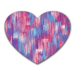 Vertical Behance Line Polka Dot Blue Green Purple Red Blue Small Heart Mousepads by Mariart