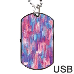 Vertical Behance Line Polka Dot Blue Green Purple Red Blue Small Dog Tag Usb Flash (one Side) by Mariart