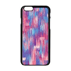 Vertical Behance Line Polka Dot Blue Green Purple Red Blue Small Apple Iphone 6/6s Black Enamel Case by Mariart