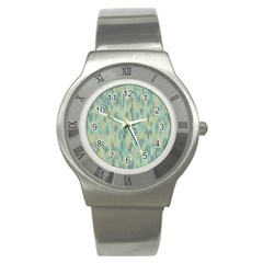 Vertical Behance Line Polka Dot Grey Stainless Steel Watch by Mariart