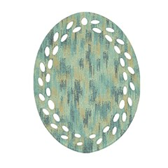 Vertical Behance Line Polka Dot Grey Ornament (oval Filigree) by Mariart