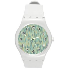 Vertical Behance Line Polka Dot Grey Round Plastic Sport Watch (m) by Mariart