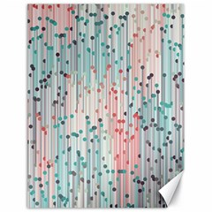 Vertical Behance Line Polka Dot Grey Pink Canvas 18  X 24   by Mariart
