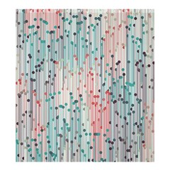 Vertical Behance Line Polka Dot Grey Pink Shower Curtain 66  X 72  (large)  by Mariart