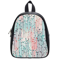 Vertical Behance Line Polka Dot Grey Pink School Bags (small)  by Mariart