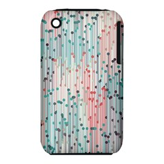 Vertical Behance Line Polka Dot Grey Pink Iphone 3s/3gs by Mariart