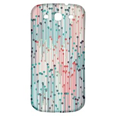 Vertical Behance Line Polka Dot Grey Pink Samsung Galaxy S3 S Iii Classic Hardshell Back Case by Mariart