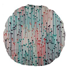 Vertical Behance Line Polka Dot Grey Pink Large 18  Premium Round Cushions by Mariart
