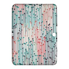 Vertical Behance Line Polka Dot Grey Pink Samsung Galaxy Tab 4 (10 1 ) Hardshell Case  by Mariart