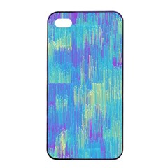Vertical Behance Line Polka Dot Purple Green Blue Apple Iphone 4/4s Seamless Case (black) by Mariart