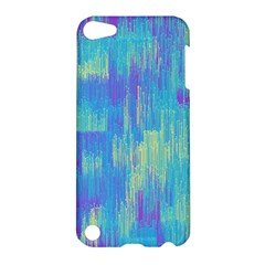 Vertical Behance Line Polka Dot Purple Green Blue Apple Ipod Touch 5 Hardshell Case by Mariart
