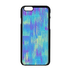 Vertical Behance Line Polka Dot Purple Green Blue Apple Iphone 6/6s Black Enamel Case by Mariart