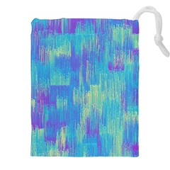 Vertical Behance Line Polka Dot Purple Green Blue Drawstring Pouches (xxl) by Mariart