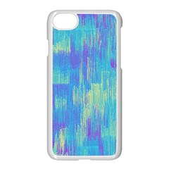 Vertical Behance Line Polka Dot Purple Green Blue Apple Iphone 7 Seamless Case (white) by Mariart