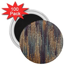 Vertical Behance Line Polka Dot Grey Orange 2 25  Magnets (100 Pack)  by Mariart