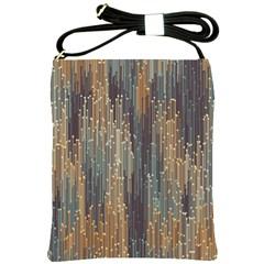 Vertical Behance Line Polka Dot Grey Orange Shoulder Sling Bags by Mariart