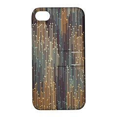 Vertical Behance Line Polka Dot Grey Orange Apple Iphone 4/4s Hardshell Case With Stand by Mariart